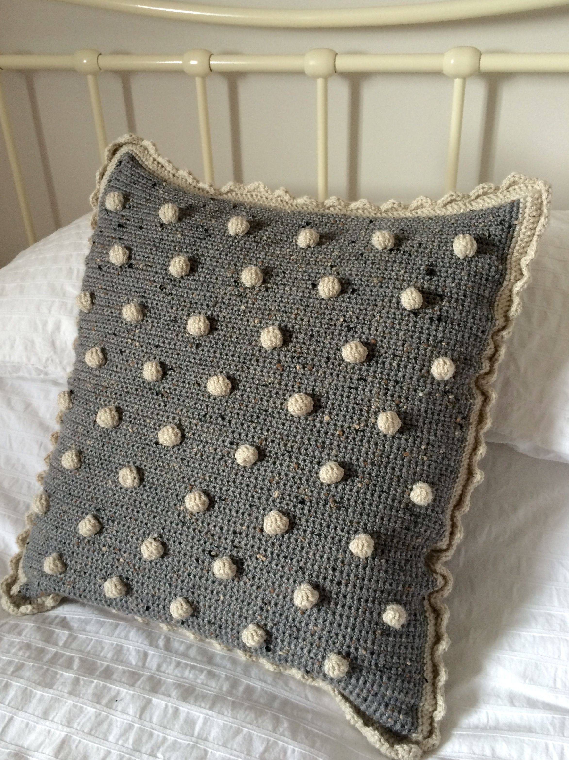 Crochet Club: Make a bobble cushion cover with a free pattern from KAte Eastw...