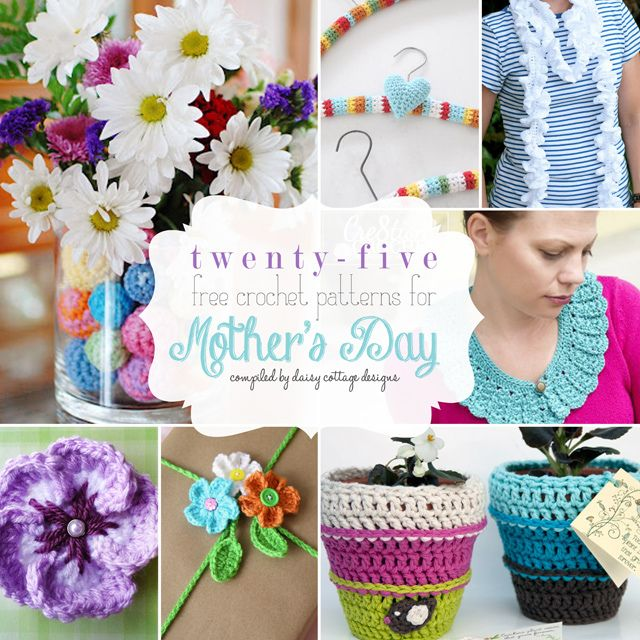 25 Free Crochet Patterns for Mother\'s Day | Decoración hogar, Tejido ...