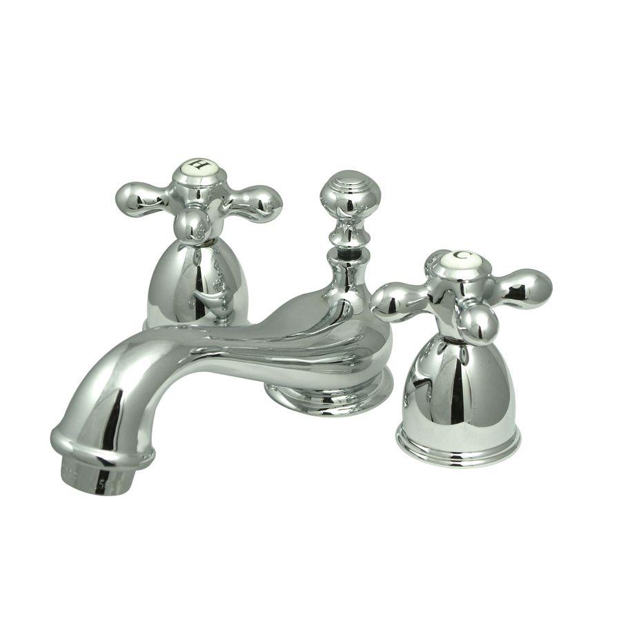 Kingston Brass Georgian Chrome 2 Handle 4 In Minispread Bathroom Sink Faucet With Drain Lowes Com Bathroom Faucets Widespread Bathroom Faucet Kingston Brass [ 900 x 900 Pixel ]