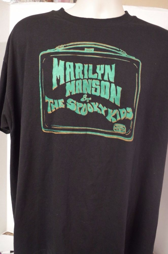 6545134718f70 Marilyn Manson And The Spooky Kids vintage rock t-shirt sz XL RARE  #MarilynManson #GraphicTee