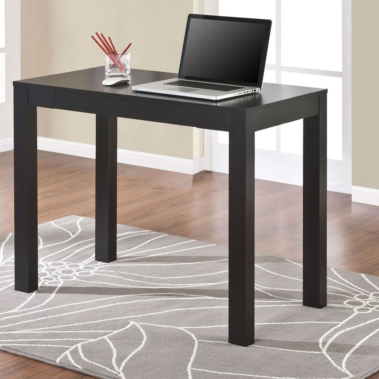 Compact Home Office Dorm Laptop Computer Desk Writing Table In  # Table Ordi En Bois