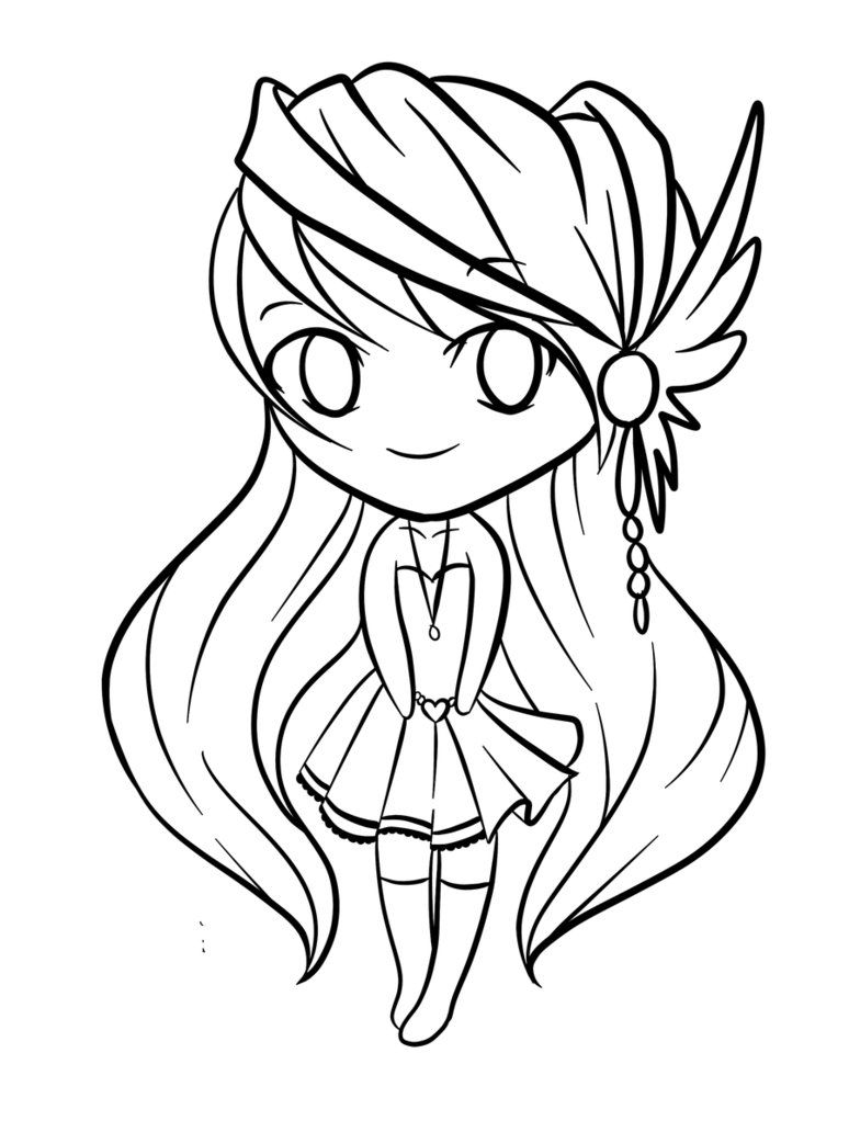 cute-chibi-coloring-pages-675 | diys | Pinterest | Manga y Ilustraciones