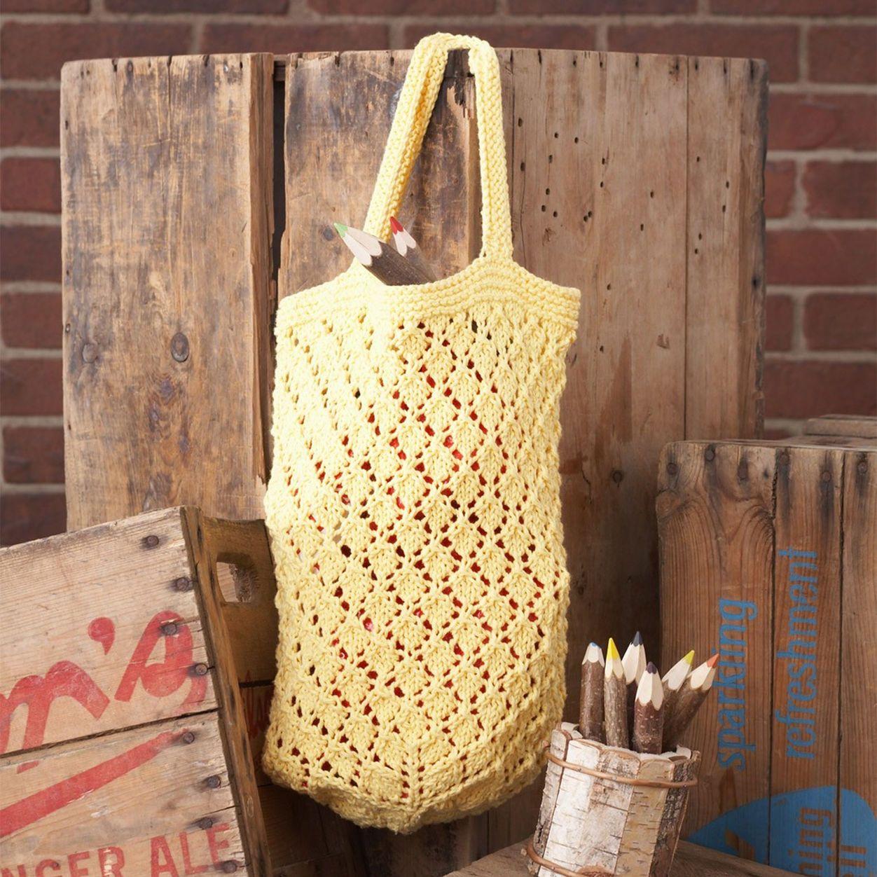 Lily Sugar'n Cream Lattice Lace Market Bag | Knitting bag ...