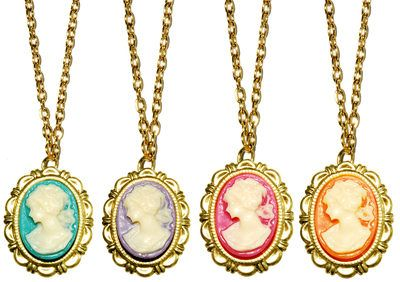 candy-colored cameos