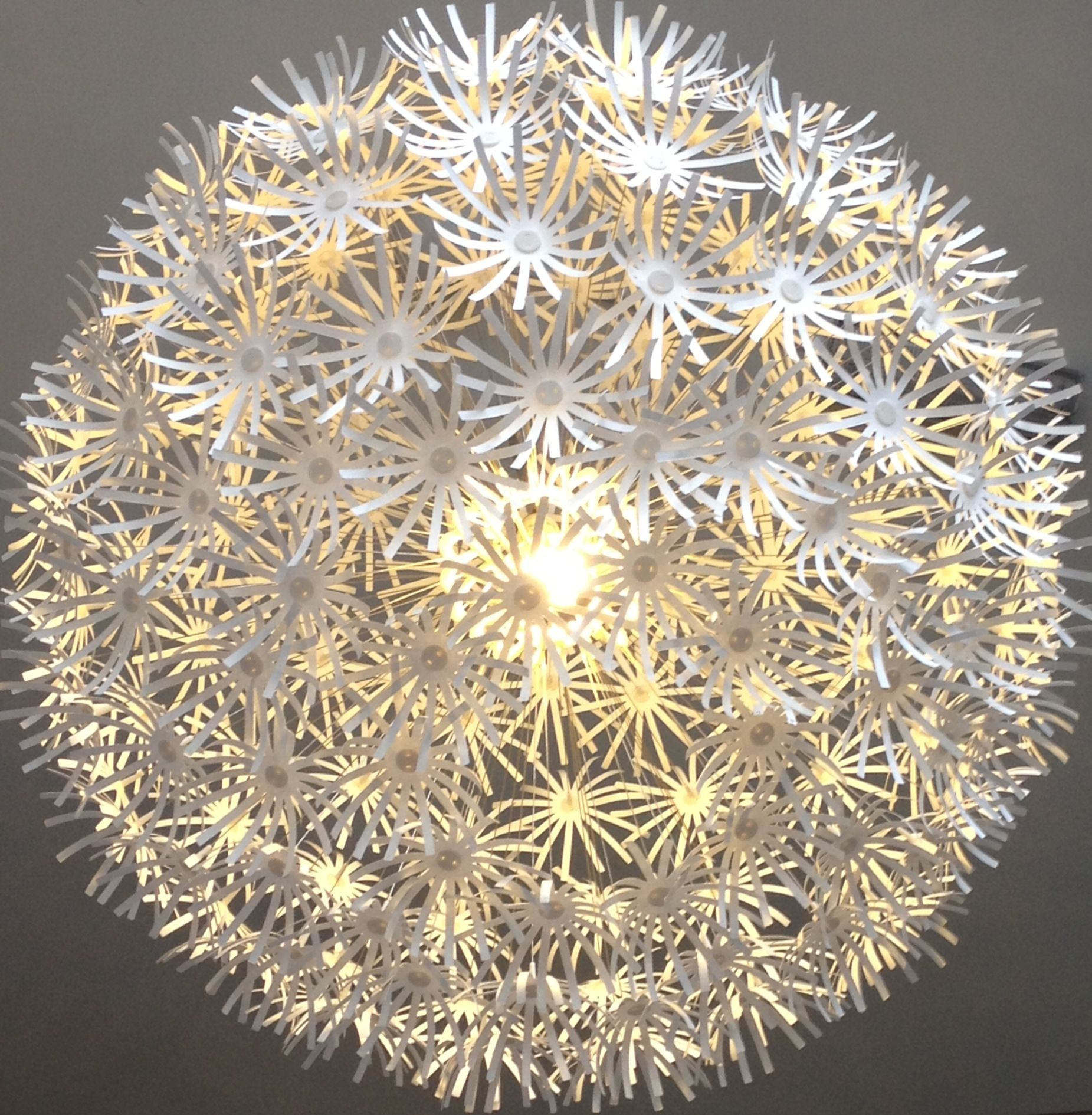 Flower ball Chandelier Nursery Pinterest