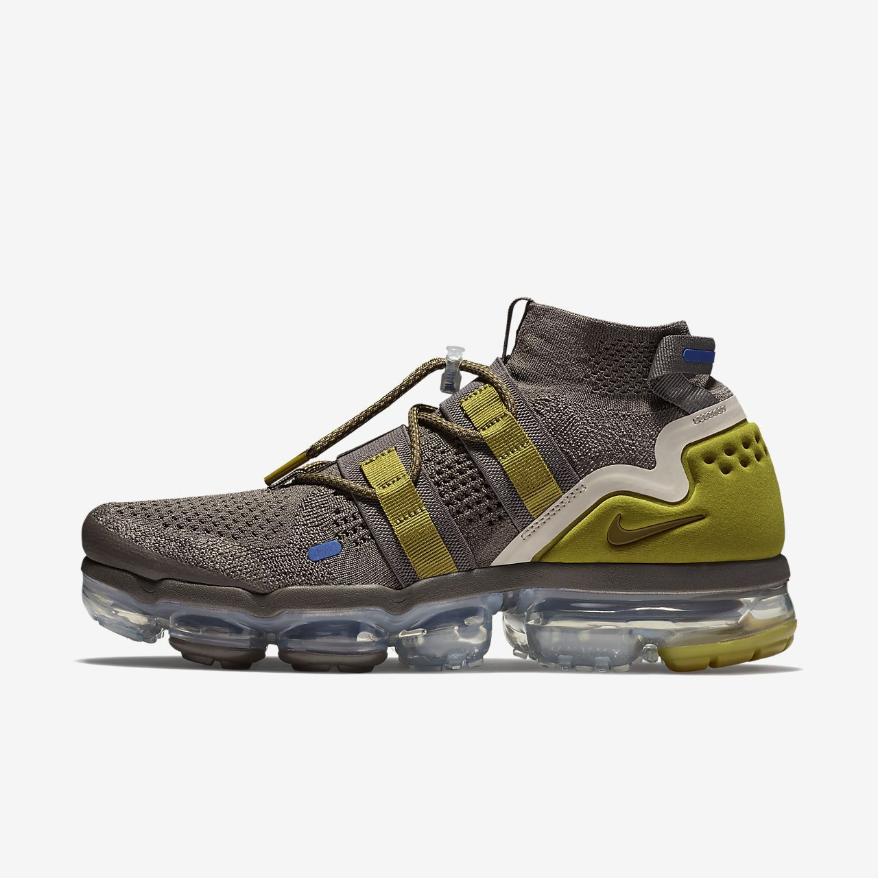 f2f10caa2a Nike Air VaporMax Flyknit Utility Running Shoe Ridgerock/Light Cream/Racer  Blue/Peat Moss Style: AH6834-200