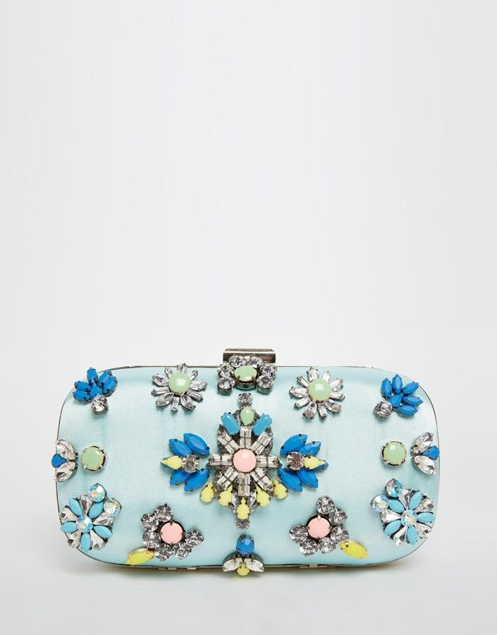 ASOS COLLECTION ASOS Jewelled Box Clutch Bag | Clutch bag