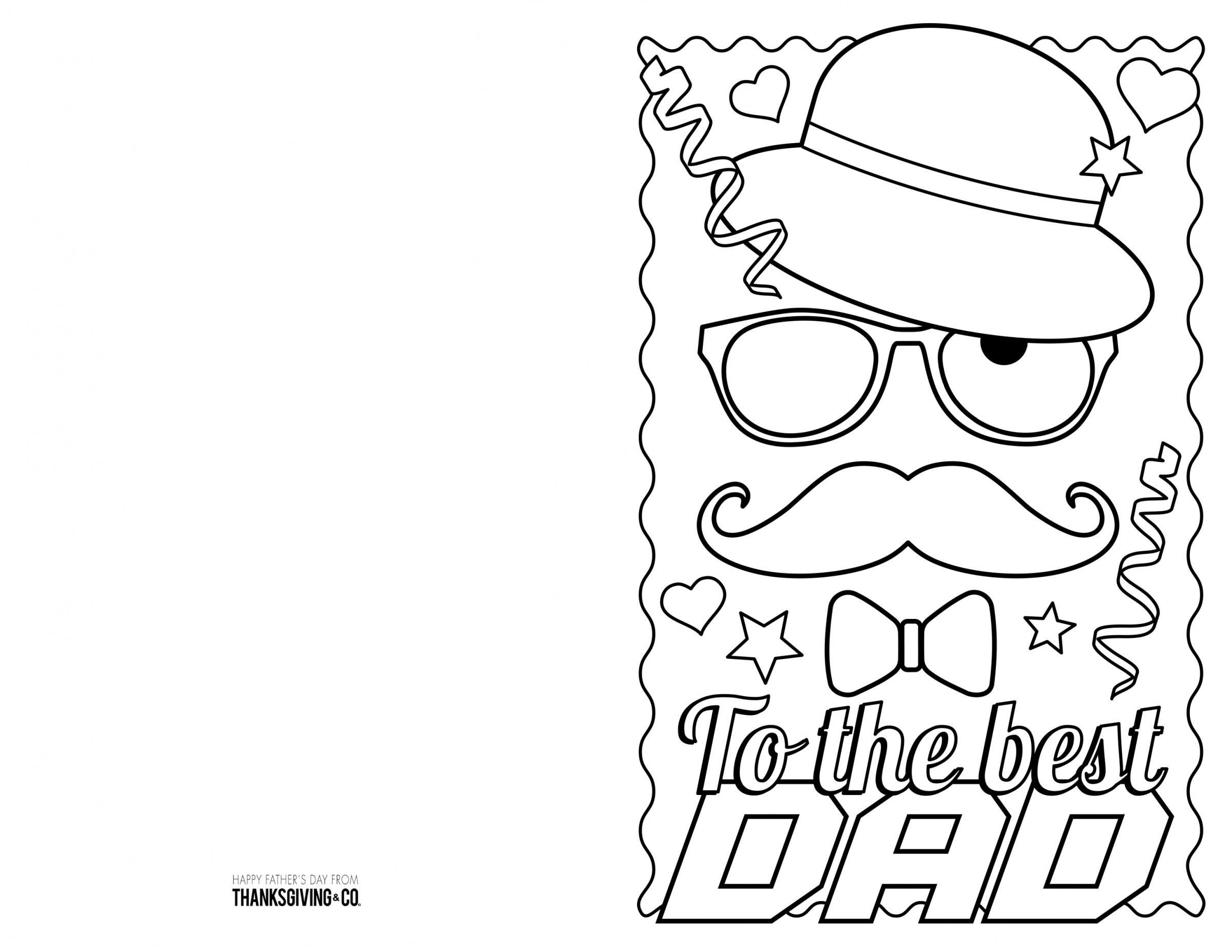 Fathers Day Colouring Printable Cards