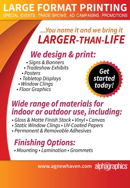 AlphaGraphics Large Format Printing Advertising Design Alphagraphics Alyssamassarodesign