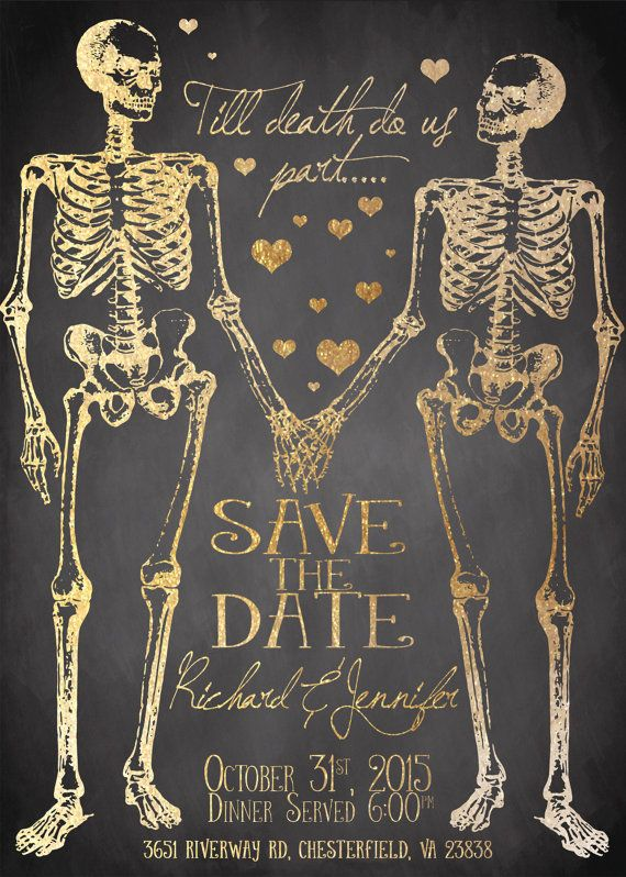 Spooktacular Halloween Wedding Invitations | Till death, Death and ...