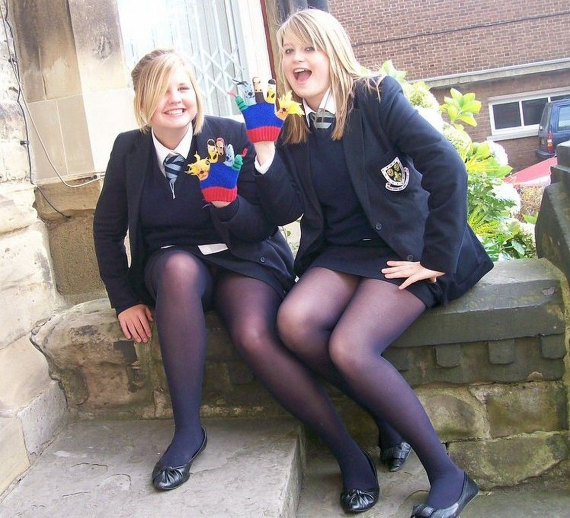 Have her schoolgirl upskirt tights have