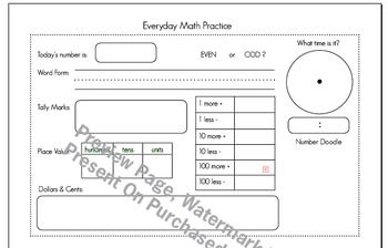 Everyday Math Practice (FREE Download!!!!)
