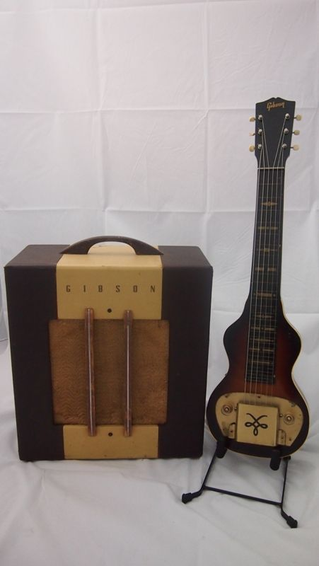 Gibson Br4 Laps Steel And Matching Amplifier Http Lapsteeloufits Blogspot Com Au Lap Steel Guitar Steel Guitar Vintage Electric Guitars