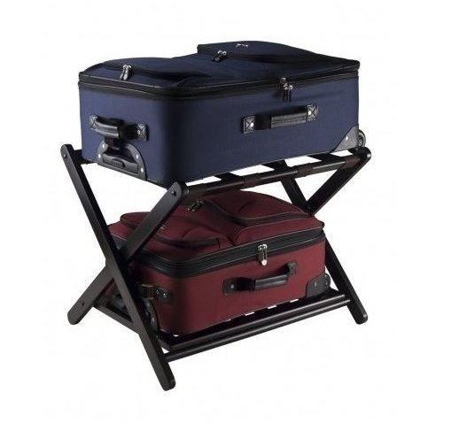 Folding Luggage Rack Suitcase Wood Stand Storage Shelf Bag Shoe Holder  Furniture #Unbranded