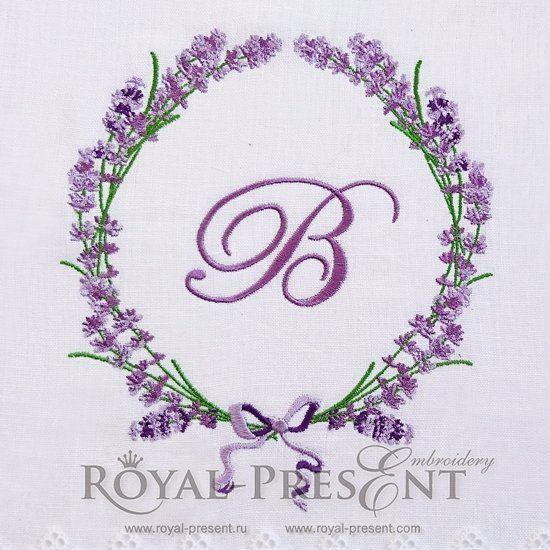 Machine Embroidery Design Fragrant Lavender Hmzs Pinterest