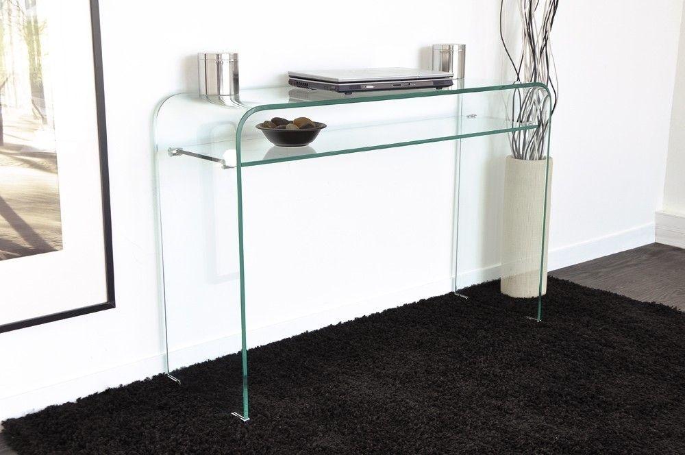 console verre tremp courb stella en 2019 mobilier. Black Bedroom Furniture Sets. Home Design Ideas