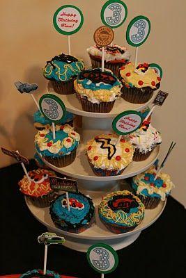 Disney Cars Birthday Party Cupcakes Cumpleaos Inspirado En Coches De Motivo