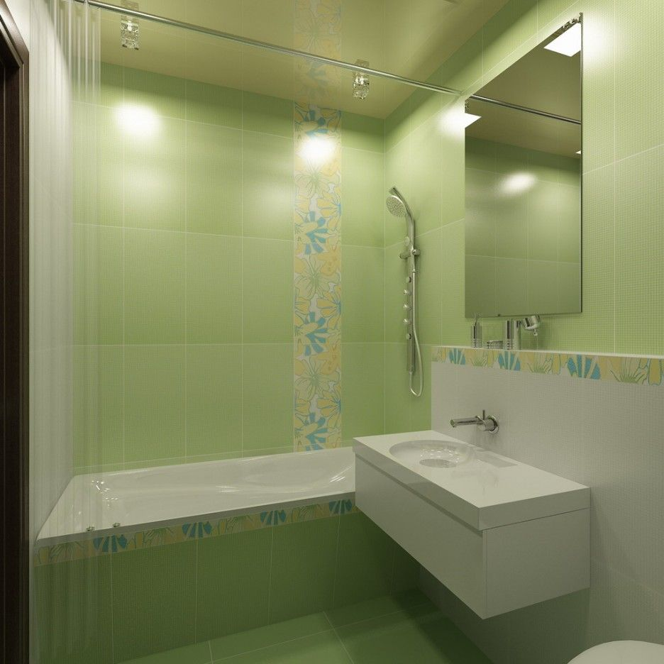 Renew Your Small Bathroom With Modern Decor In Green! | Pinterest ...