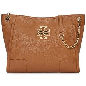Tory Burch Britten Small Slouchy Chain Tote · Brown HandbagsTote ...