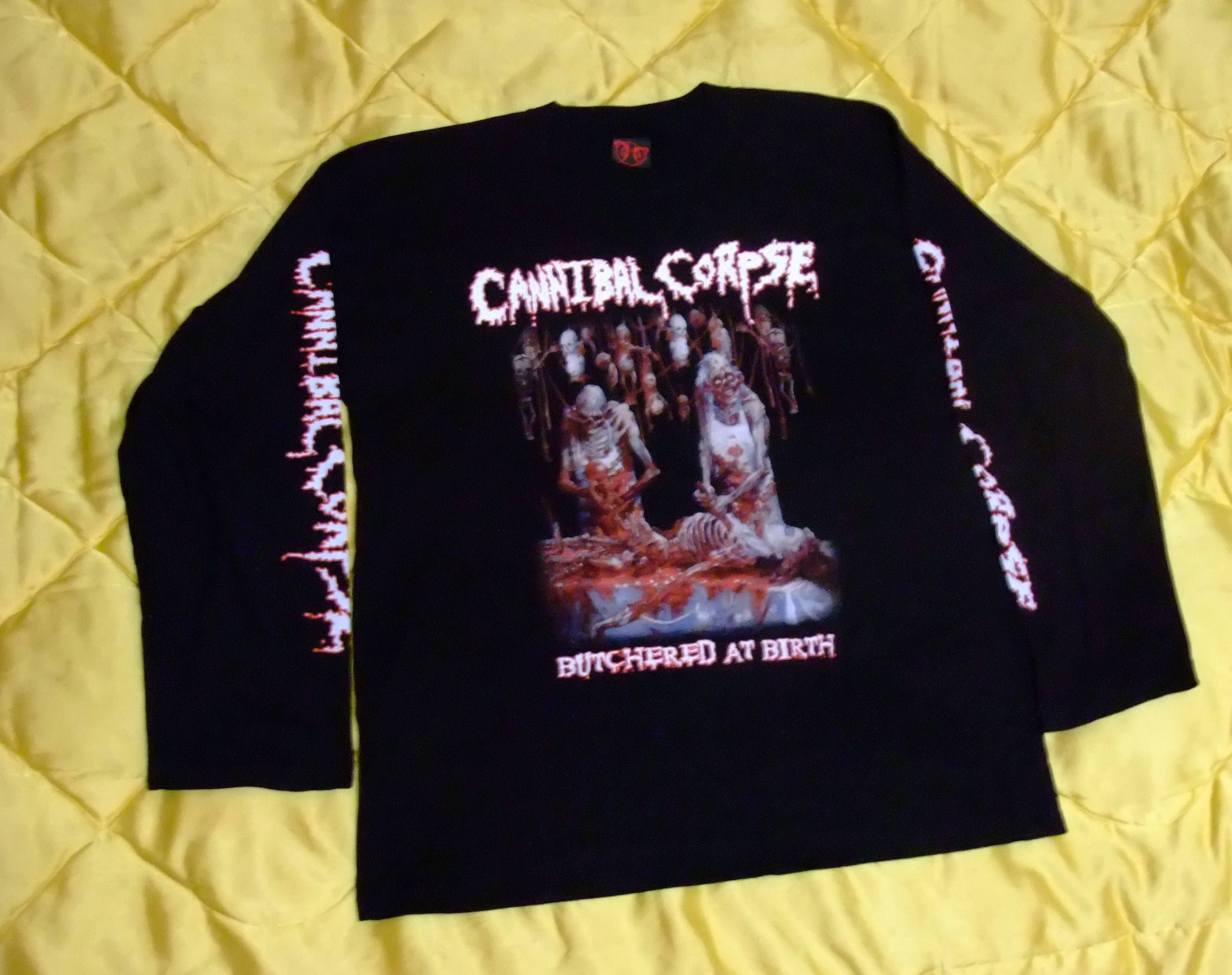 Cannibal corpse butchered at birth long sleeve born in hell rare cannibal corpse butchered at birth long sleeve born in hell rare vintage t shirt death biocorpaavc Choice Image