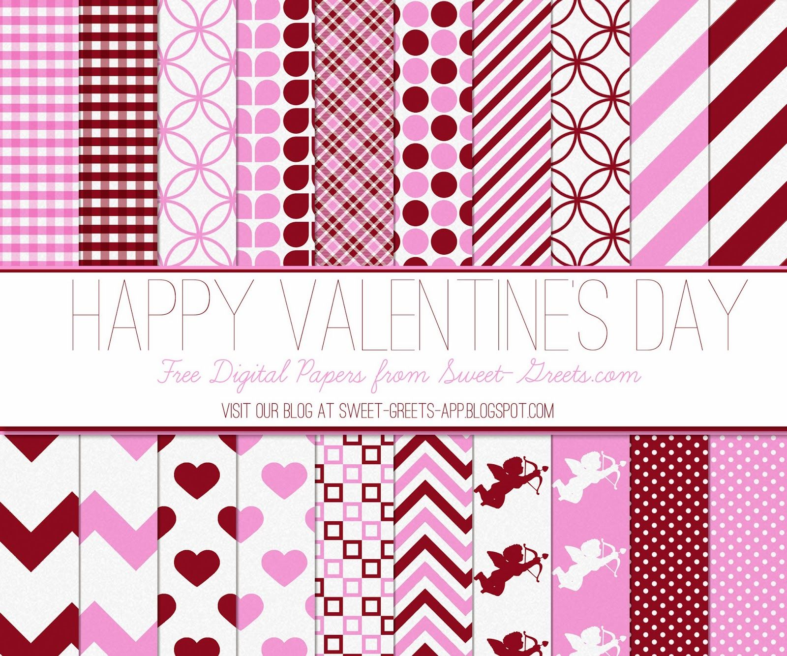 Free Valentine S Day Digital Paper Set