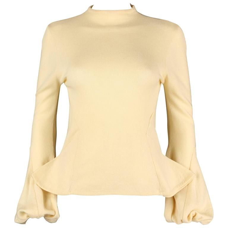 ALEXANDER McQUEEN C1998 Early Pale Yellow Wool Knit