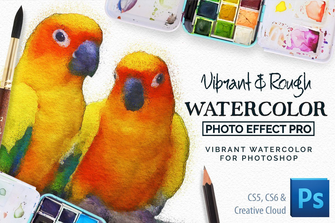 Vibrant Watercolor Photo Effect Kit Photo Effects Photoshop