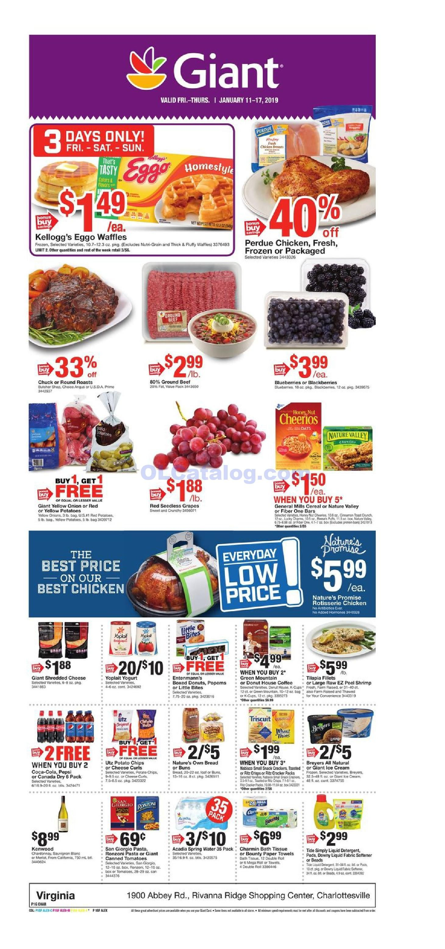 Giant food weekly ad january 11 17 2019 do you know