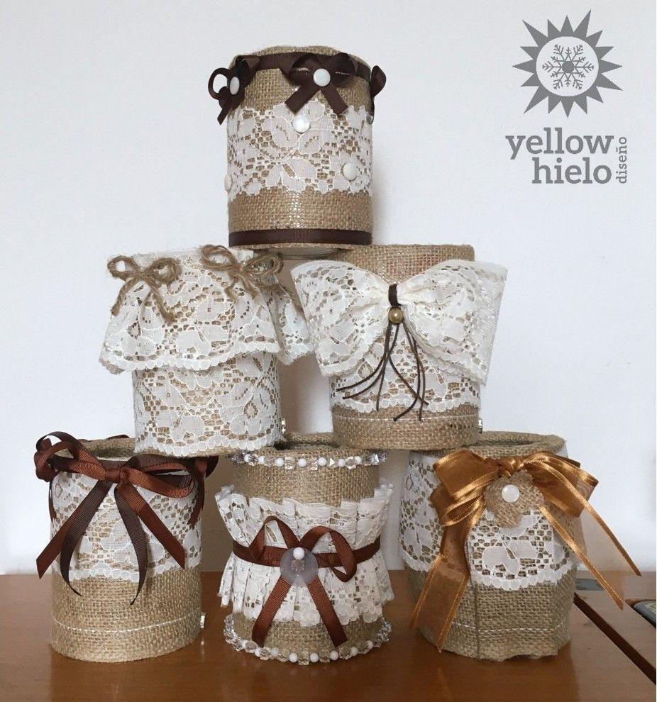 Latas decoradas IDEAS, DIY, shabby chic, vintage, reciclar, centro ...