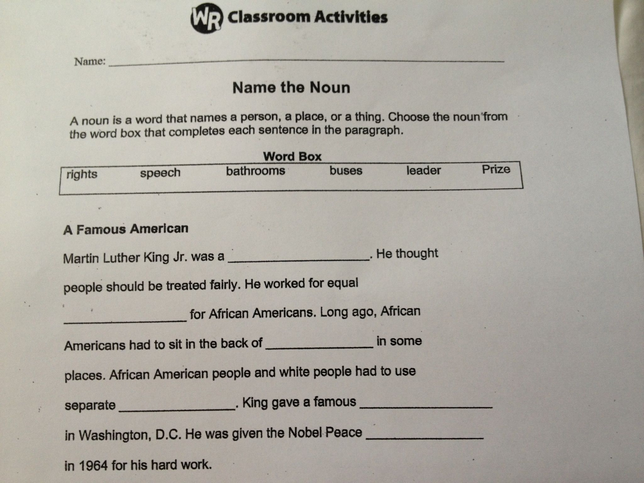 I Use This Worksheet With My First Graders When We Study
