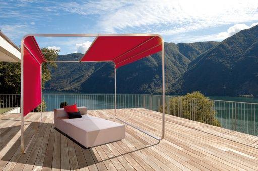 aufrollbares designer sonnensegel mit stangen flexibler sonnenschutz sichtschutz windschutz. Black Bedroom Furniture Sets. Home Design Ideas