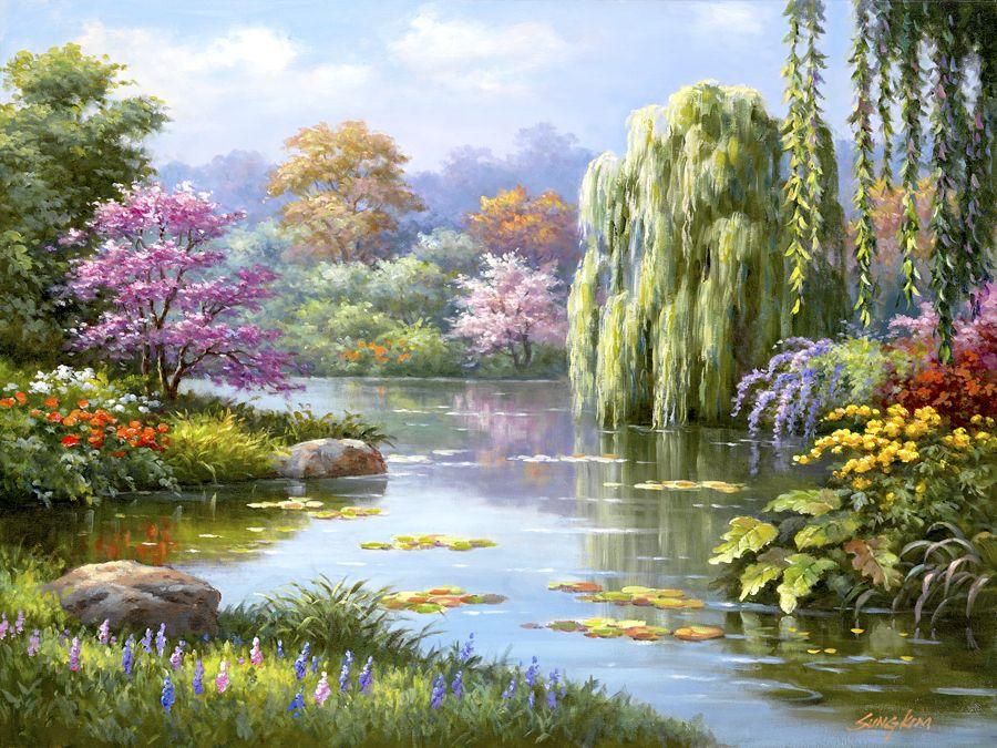Hidden Pond by Sung Kim