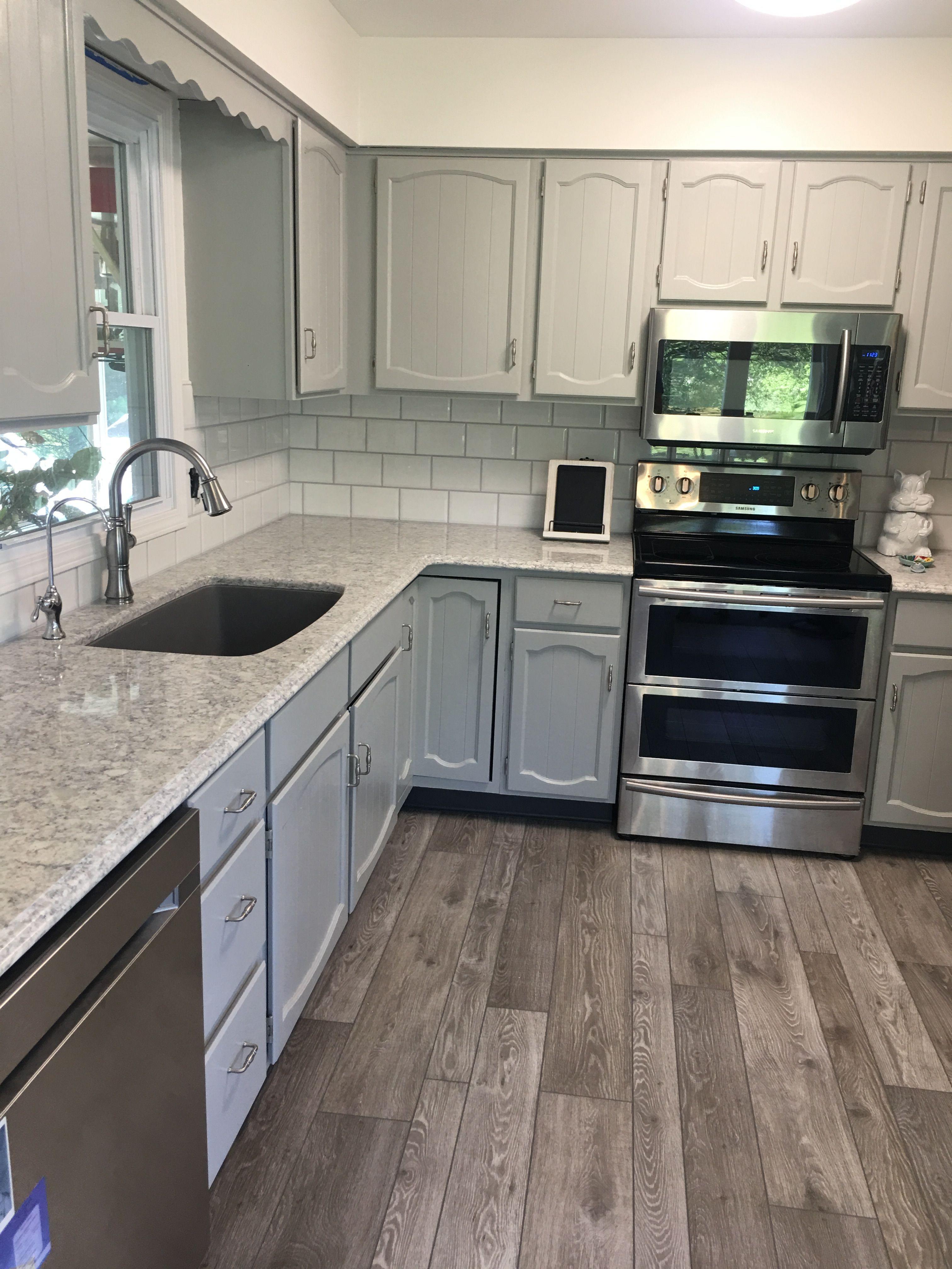 Kitchen Gray And White Makeover Old Kitchen Cabinets Grey Kitchens Kitchen Decor
