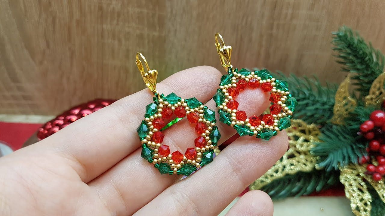 Photo of Christmas earrings/DIYBeaded earrings/Christmas Gift ideas/How to make EARRINGS/@Sonysree Creations