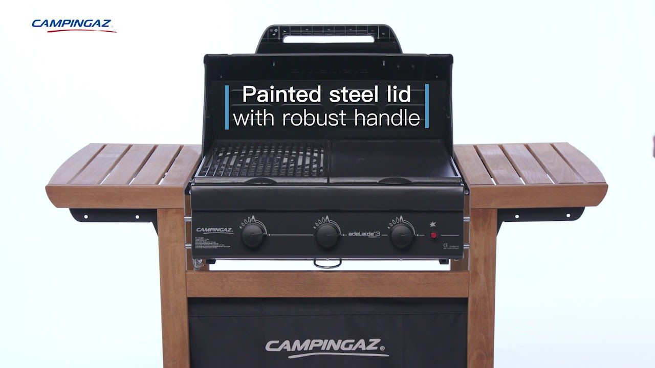 Campingaz 3 Series.Campingaz 3 Series Adelaide Woody L 3 Burner Bbq With Wooden