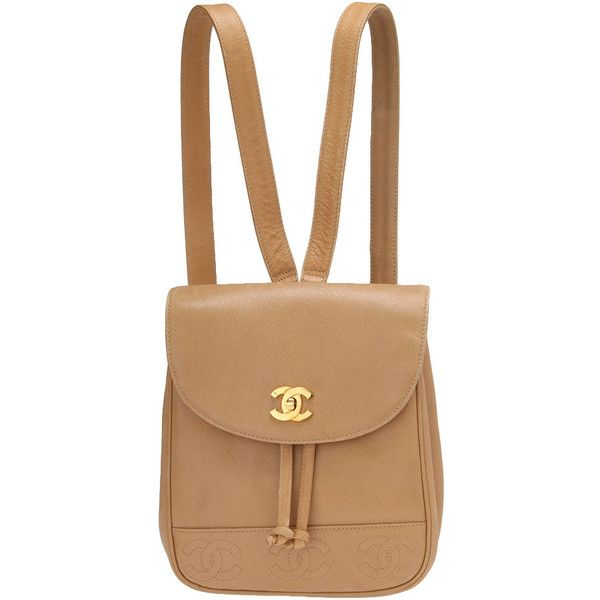 cb8226b29dbc 8/10 販売終了 Vintage Brand Shop Qoo/vintage CHANEL ❤ liked on Polyvore  featuring bags, backpacks, chanel, accessories, vintage rucksack, chanel  backpack, ...