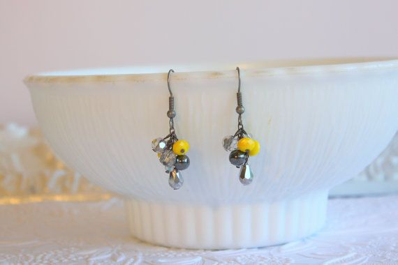 Yellow EarringsBridesmaid EarringsYellow by dreamdaydesign on Etsy, $26.00