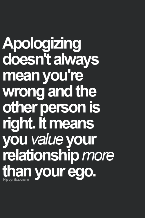 Apologizing love quotes