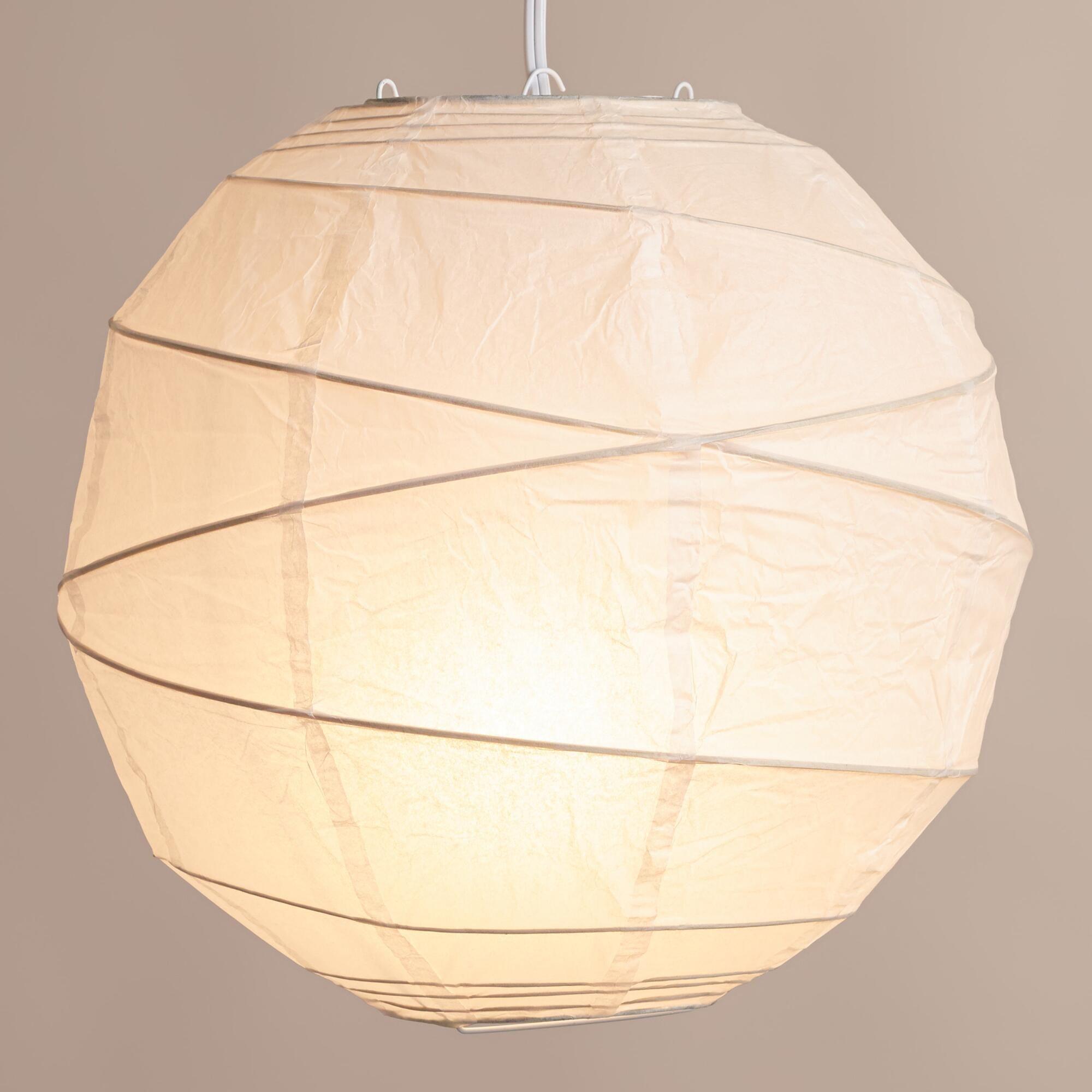 Maru Round White Paper Lantern