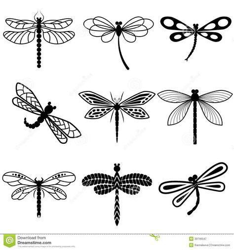 """résultat de recherche d'images pour """"libellule dessin symbole"""