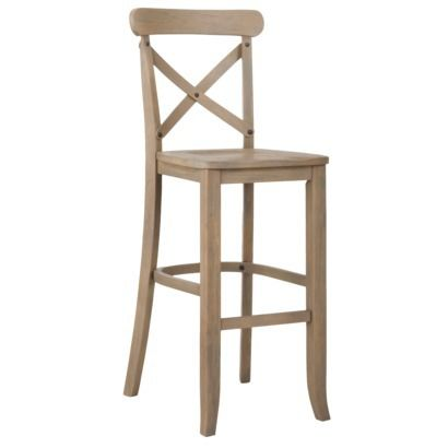 29 Quot French Country X Back Bar Stool Driftwood 82 49