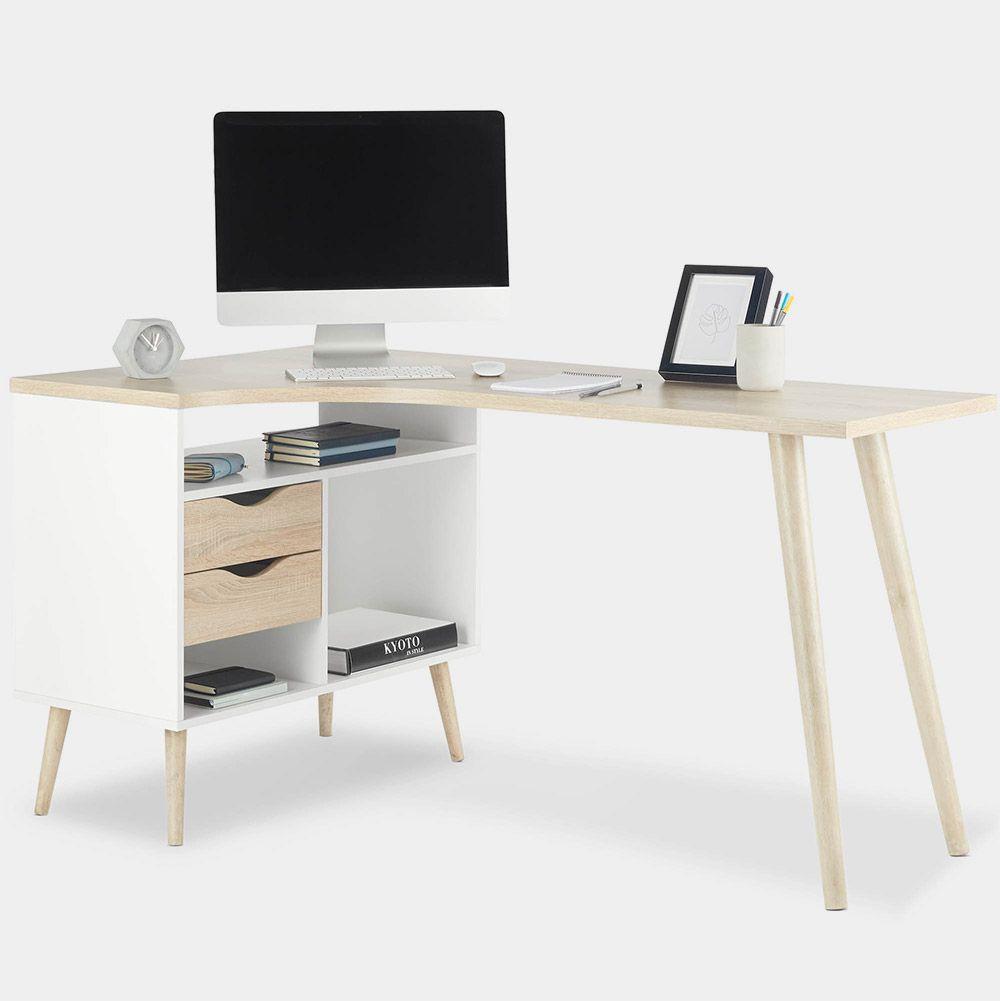 White Oak Computer Desk In 2020