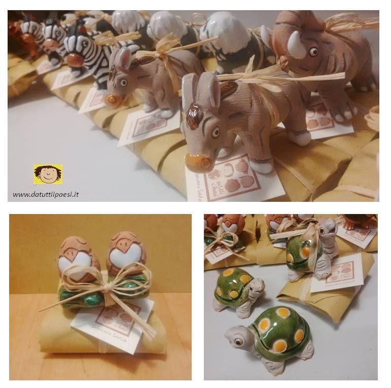 Bomboniere Solidali Fatte Con Animalitos In Terracotta Dipinta Da Artigiani Peruviani E Confezionate Su Pacchetti Di Carta Bomboniere Fatto A Mano Artigianato