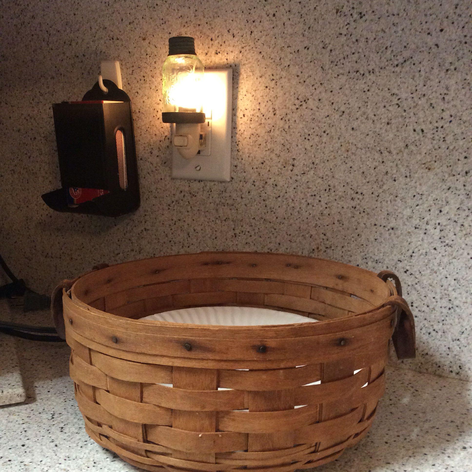 Longaberger Basket used at a paper plate holder. | Longaberger ...