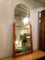 Old Hair Dresser Wooden Structure Mirror