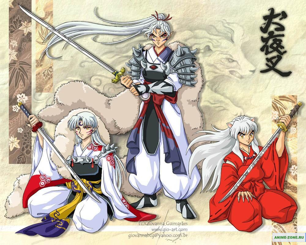 Inu no Taisho and the Brothers of the Fang; Sesshomaru and Inuyasha ...