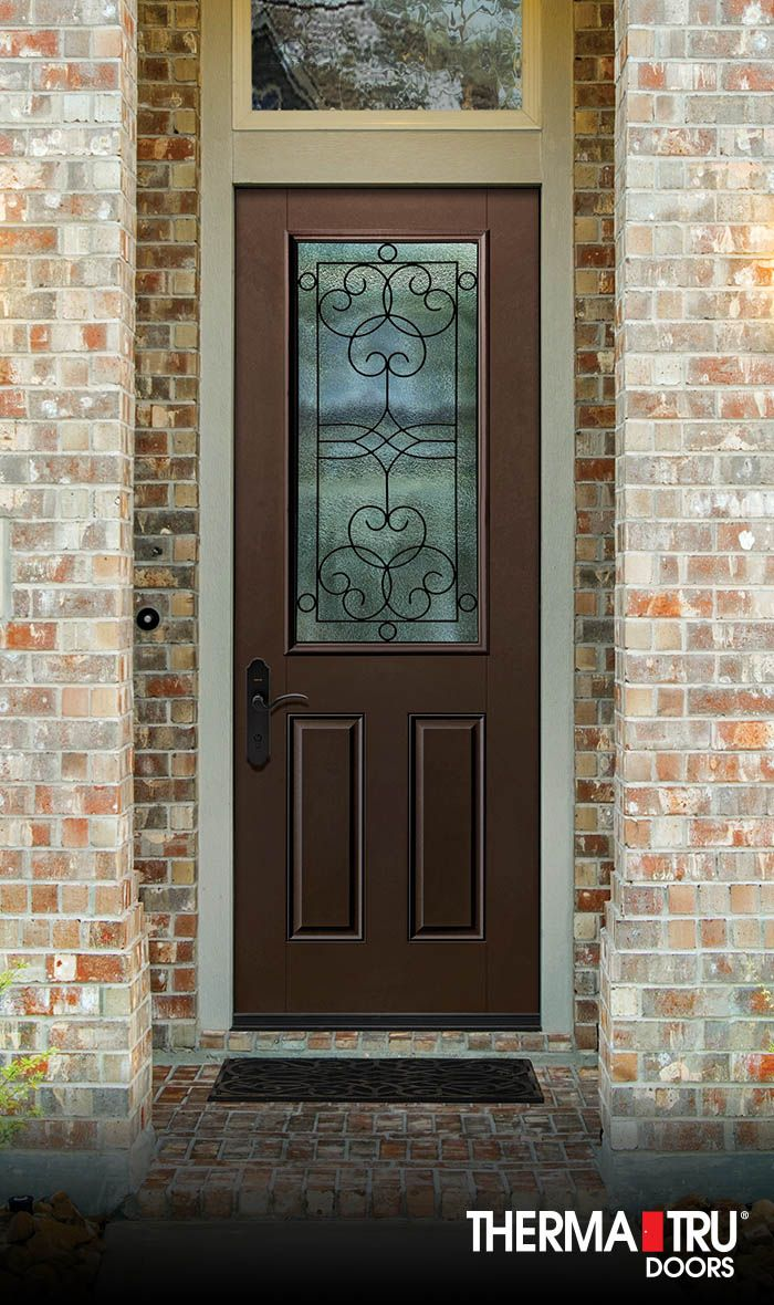 Therma Tru 8 0 Smooth Star Fiberglass Door With Salinas Wrought