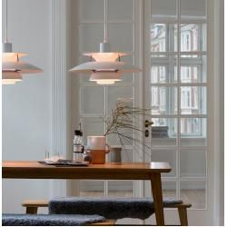 Photo of Ph 5 mini pendant light hues of rose Louis Poulsen