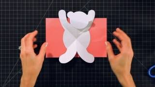 How To Make Pop Up Cards And Crafts Teddy Bear Via Youtube Pop Up Card Templates Pop Up Cards Pop Out Cards