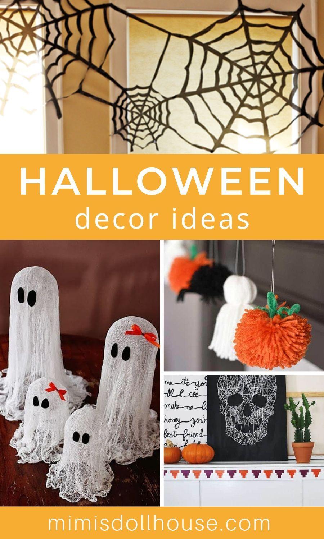 Diy Halloween Decor Craft Ideas Halloween Crafts Decorations Diy Halloween Decorations Easy Diy Halloween